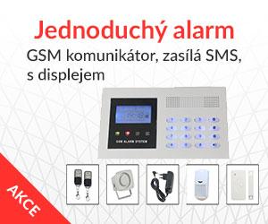 Alarm do bytu s klávesnicí levně