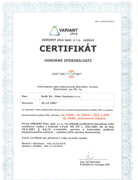 EPS certifikát - Sikur Systems s.r.o.